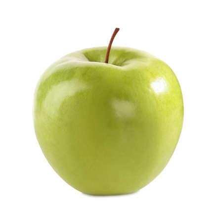 Fresh juicy yellow apple isolated on white