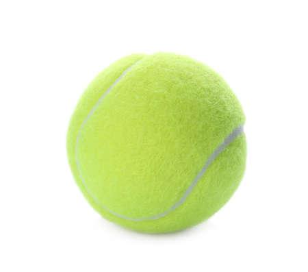 Bright yellow tennis ball isolated on white Reklamní fotografie