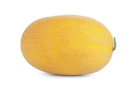 Whole tasty ripe melon isolated on white