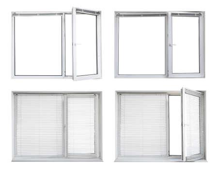 Set of modern windows on white background