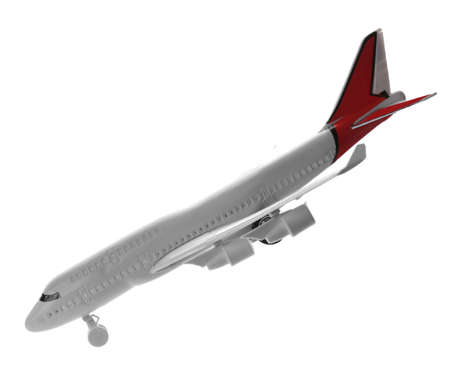 Toy airplane isolated on white. Travel concept Фото со стока