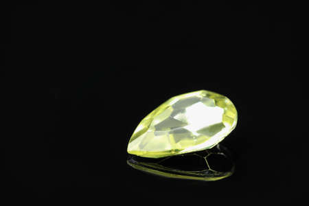 Beautiful gemstone for jewelry on black background