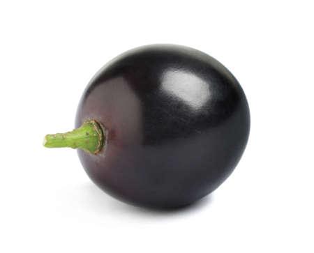 Delicious ripe dark blue grape isolated on white