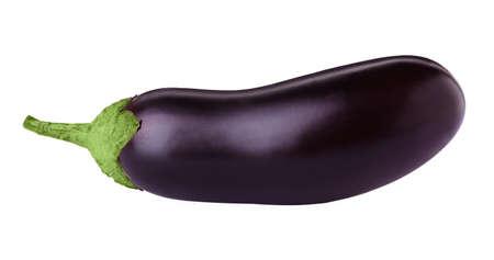 Fresh ripe purple eggplant isolated on white 版權商用圖片