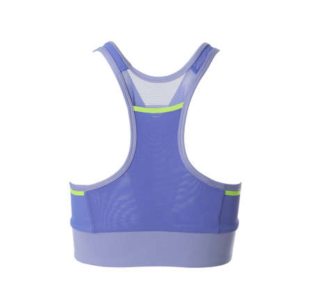 Purple women's top isolated on white. Sports clothing Imagens