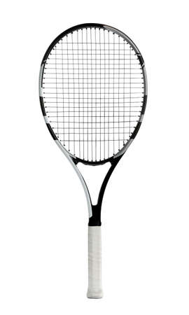 Tennis racket isolated on white. Sports equipment