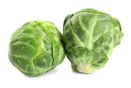 Fresh tasty Brussels sprouts isolated on white Reklamní fotografie