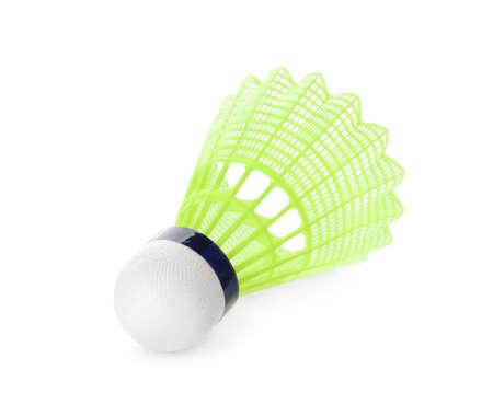 Badminton shuttlecock isolated on white. Sport equipment