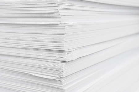 Stack of white paper sheets, closeup view Archivio Fotografico