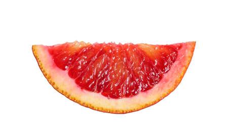 Cut ripe red orange isolated on white