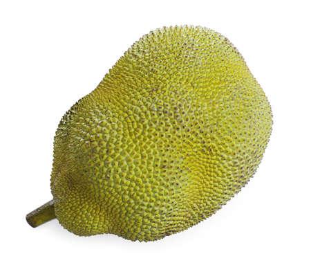 Delicious fresh exotic jackfruit isolated on white Stock fotó