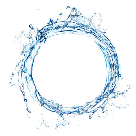 Abstract splash of water isolated on white