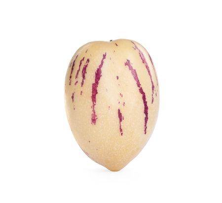 Fresh ripe pepino melon isolated on white 版權商用圖片