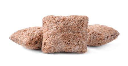 Sweet crispy corn pads isolated on white 版權商用圖片