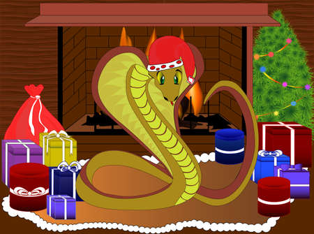 year of the snake: Happy New Year Snake Illustration