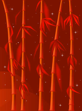 Red abstract bamboo background