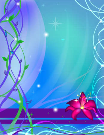 Abstract vector flower background Vector