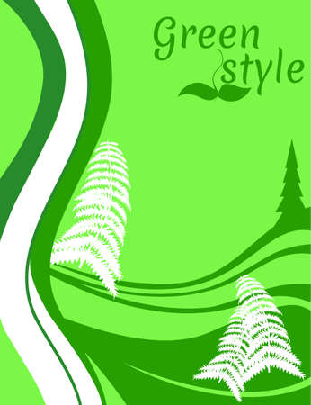 Abstract green eco design Illustration
