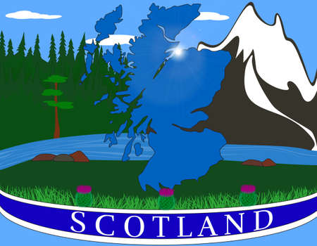 Colorful vector background dedicated to Scotland Illustration