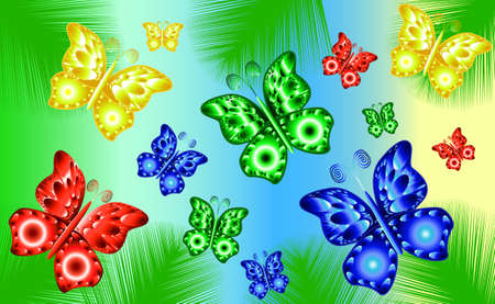 hairpin: Colorful butterfly background