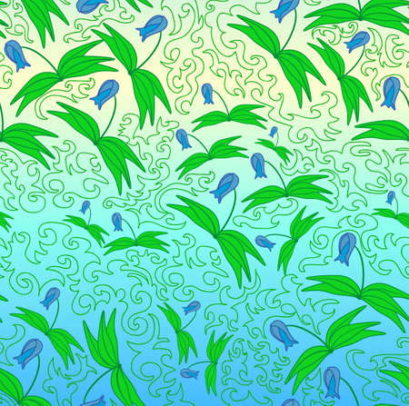 Nice seamless with the lilies Vector
