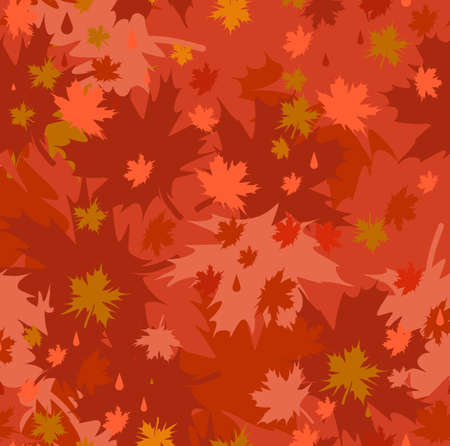 Cute seamless with autumn leaves