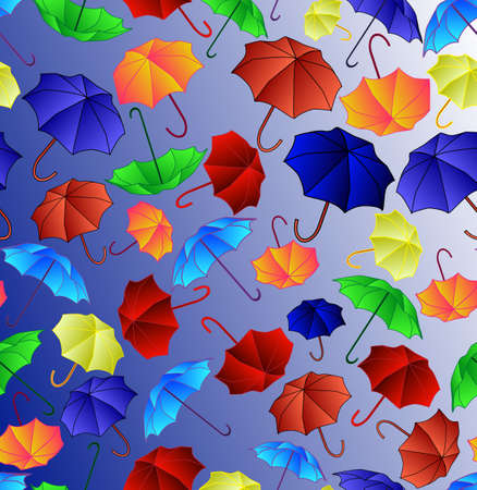 Beautiful seamless with colorful umbrellas Illustration