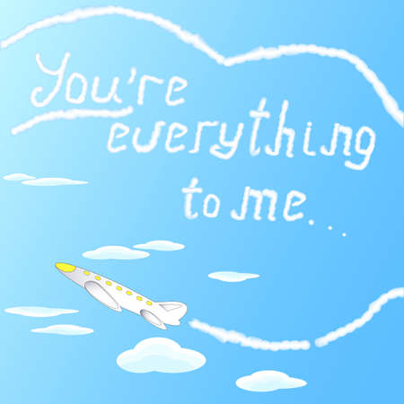 vapour: Beautiful little airplane writing the words of love in the sky