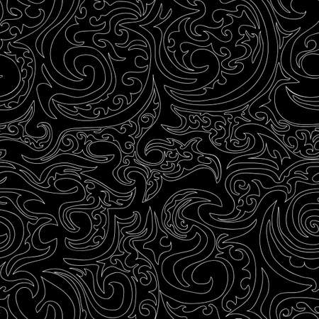 Beautiful black and white vector seamless pattern  You can use any color of background