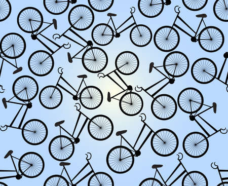treadle: Cute seamless pattern with bikes  You can use any color of background