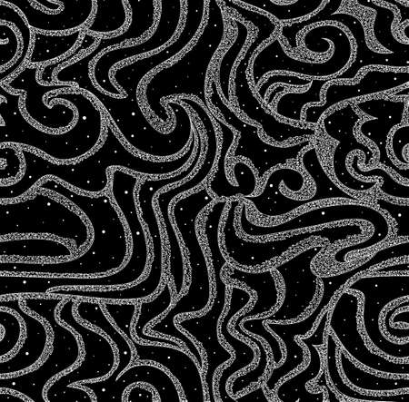 figured: Beautiful snowy seamless texture with figured lines  You can use it in interior design, as a wall or bed sheets texture