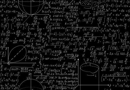 theorem: Hermosa sin patr�n matem�tico con ecuaciones de �lgebra, cifras y gr�ficos Vectores