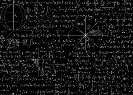 Sin patrón matemático con parcelas y ecuaciones Puede utilizar cualquier color de fondo Foto de archivo - 23241643
