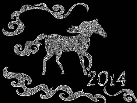 dobbin: Beautiful vector background with the riding horse   Illustration