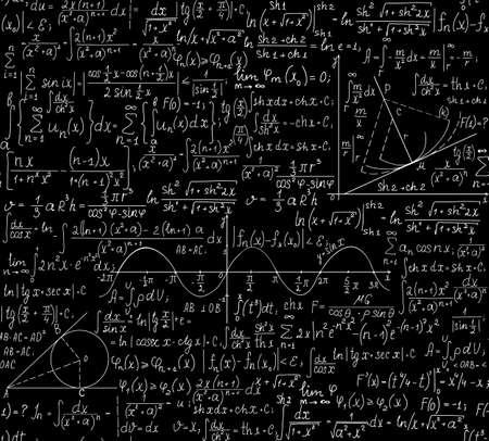 Wiskundige vector naadloze patroon met formules U kunt elke kleur van de achtergrond gebruiken
