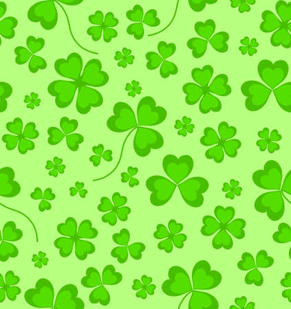 quarterfoil: seamless pattern with clover