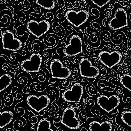 Beautiful seamless pattern with hearts