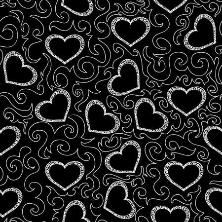 st valentine  s day: Beautiful seamless pattern with hearts
