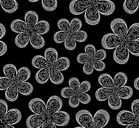 Beautiful seamless pattern with figured flowers Vector