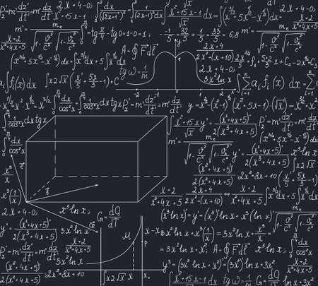 Beautiful math seamless pattern Vector