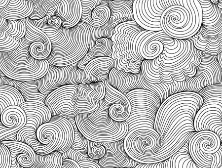 Abstract vector wavy seamless pattern  You can use any color of background Illustration