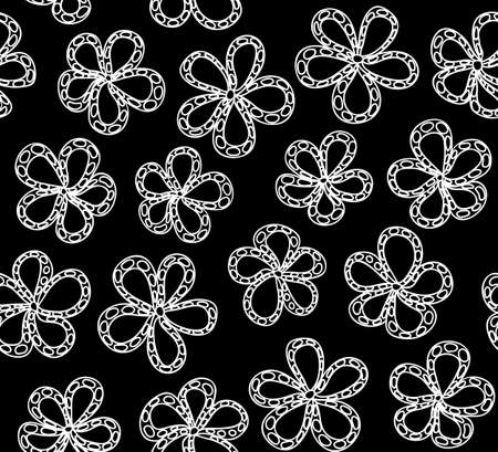 Beautiful vector seamless pattern with flowers  You can use any color of background Vector
