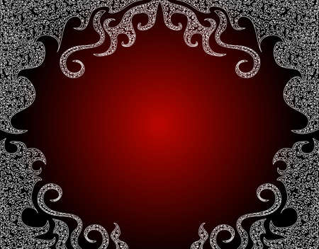 Beautiful red ornamental vector frame Vector