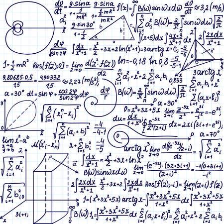 integral: Modelo del vector con f�rmulas matem�ticas, ecuaciones y figuras