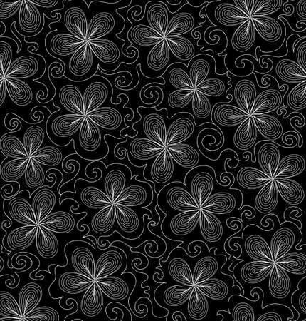 Beautiful abstract vector seamless pattern with flowers  You can use any color of background Vector