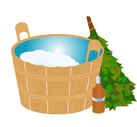 sauna set Illustration