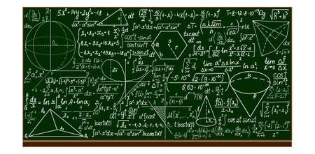 integral: pizarra de la escuela con los c�lculos matem�ticos escritos a mano