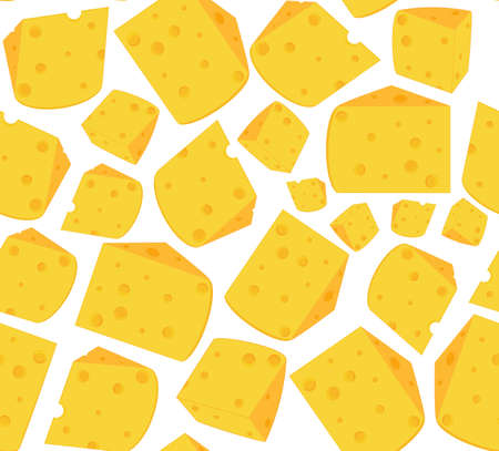morsel: Cute vector seamless pattern with slices of cheese