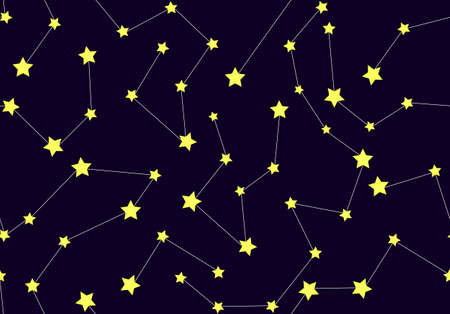Vector seamless pattern with constellations Vector