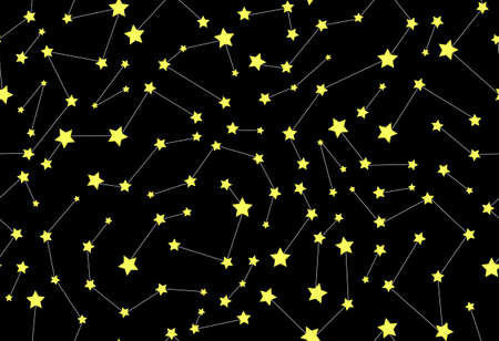 ursa: Vector seamless pattern with stars and constellations Illustration